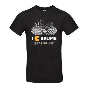 "T-shirt ""I C Brume"" Classic Black Coton 180g - Bar à Brume"