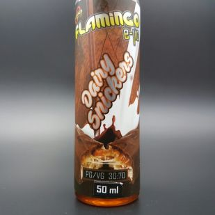 Dairy Snickers 50ml 0mg DLUO - Flamingo