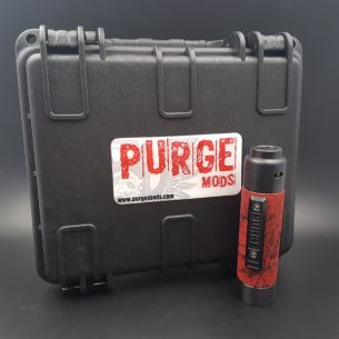 Kit Slim Piece Knurled Red Black Splatter Set - Purge Mods
