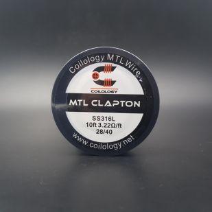 MTL Clapton SS316L Bobine 10ft 28/40 - Coilology -