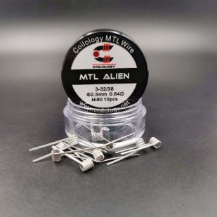 MTL Alien 0.84ohm 2.5mm x10 Coils Préfait NI80 - Coilology