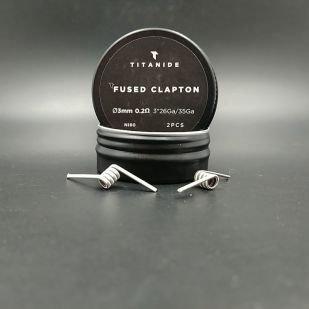 Fused Clapton 3mm 0.2ohm x2 - Titanide