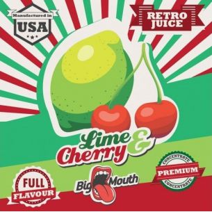 Lime & Cherry (Retro Juice) 10ml - Concentré Big Mouth
