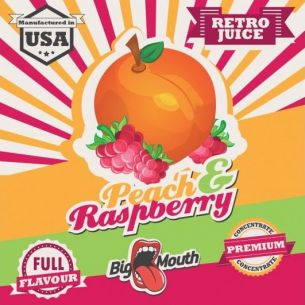 Peach & Raspberry (Retro Juice) 10ml - Concentré Big Mouth