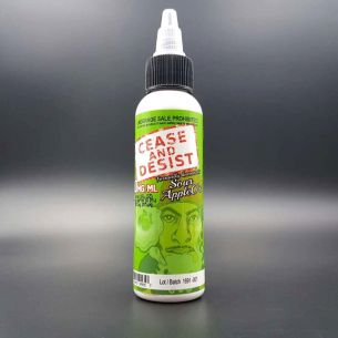 Cease and Desist - Sour Apple O's 60ml 0mg - Flawless