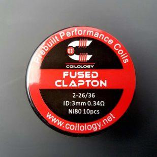 Fused Clapton Nichrome préfaits x10 - Coilology