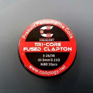 Tri-Core Fused Clapton Nichrome préfaits x10 - Coilology