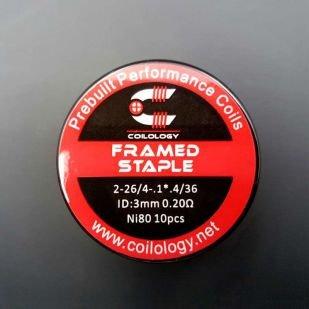Framed Staple Nichrome préfaits x10 - Coilology