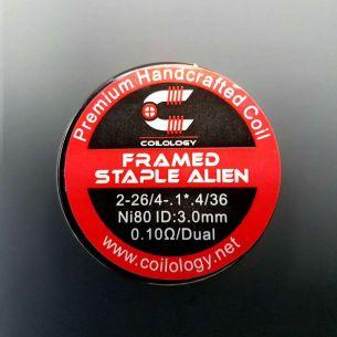 Framed Staple Alien 0.1ohm Nichrome Coils fait main x2 - Coilology