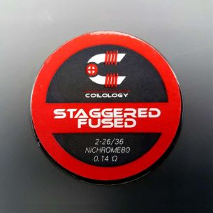 Staggered Fused Clapton 0.14ohm Nichrome Coils fait main x2 - Coilology