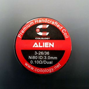 Alien 0.1ohm Nichrome Coils fait main x2 - Coilology