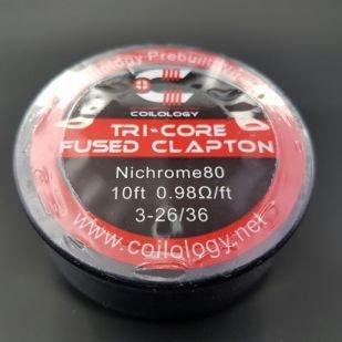 Tri-Core Fused Clapton Nichome bobine 10ft - Coilology