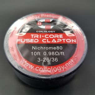 Tri-Core Fused Clapton Nichrome bobine 10ft - Coilology