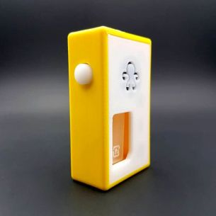 Octo White / Yellow Distress - octo510 - Box Mod BF - Octopus Mods