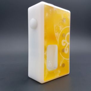 Octo Twin Ultem White Delrin - octo510 - Box Mod BF - Octopus Mods