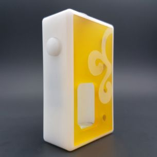 Octo Big Half Ultem White Delrin - octo510 - Box Mod BF - Octopus Mods