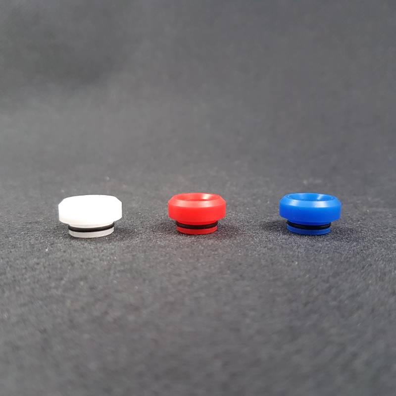 Drip Tip pour GR1 RDA X3 White / Red / Blue