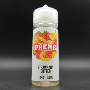 Strawnana Butter 100ml 0mg - Preme Vapes