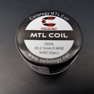 MTL Coil NI80 Préfait 2.5mm 0.60ohm - Coilology