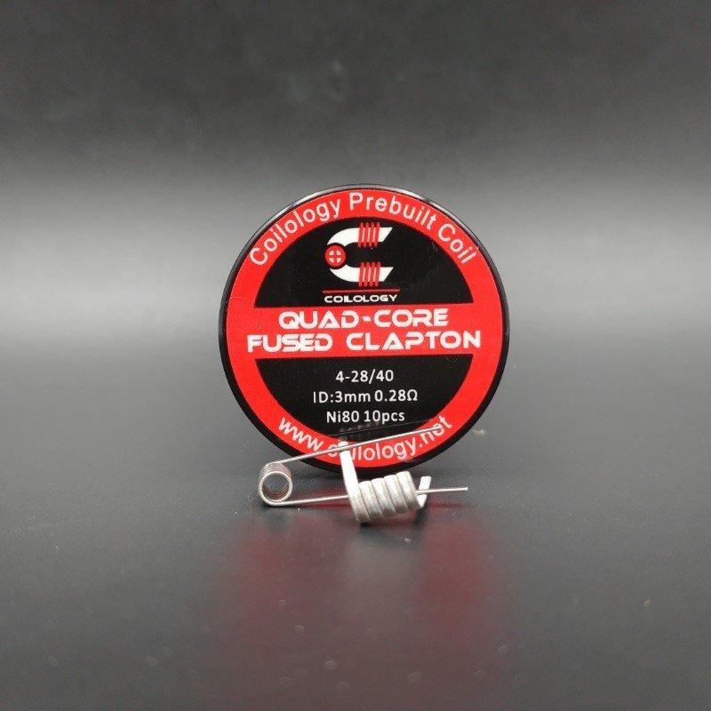 Quad-Core Fused Clapton Nichrome Préfait x10 - Coilology