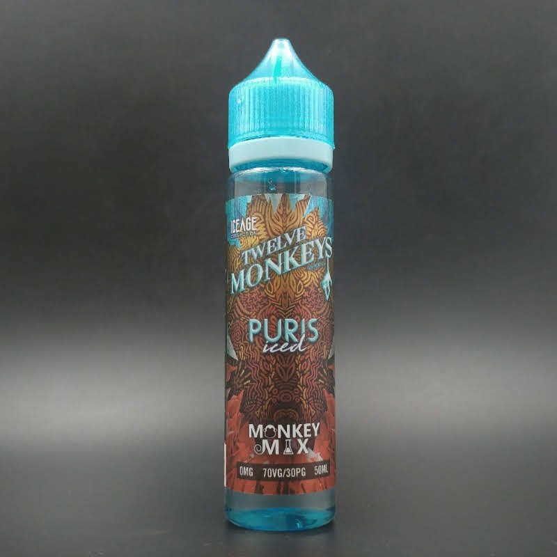 Puris Iced 50ml 0mg - Twelve Monkeys