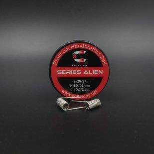 Series Alien 0.4ohm Nichrome Coils fait main x2 - Coilology