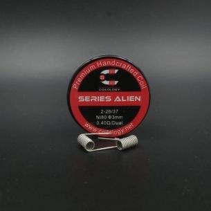 Series Alien 0.4ohm Nichrome Coils fait main x2 - Coilology